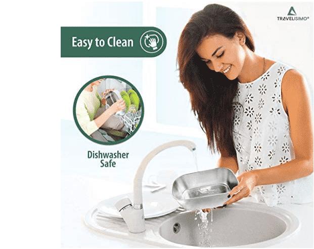 La fiambrera travelisimo es fácil de lavar